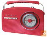 Camry prenosni retro radio rdeč (CR1130 r)