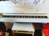 Prodam bel pianino ASTOR z usnjenim stolom
