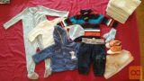 Oblačila za dojenčka fantka in 9x tetra plenice