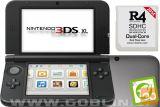 Nintendo 3DS XL srebrn + R4i SDHC v2014 + microSD 8GB + SD