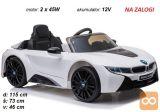 Otroški avto na akumulator BMW I8 (bel)